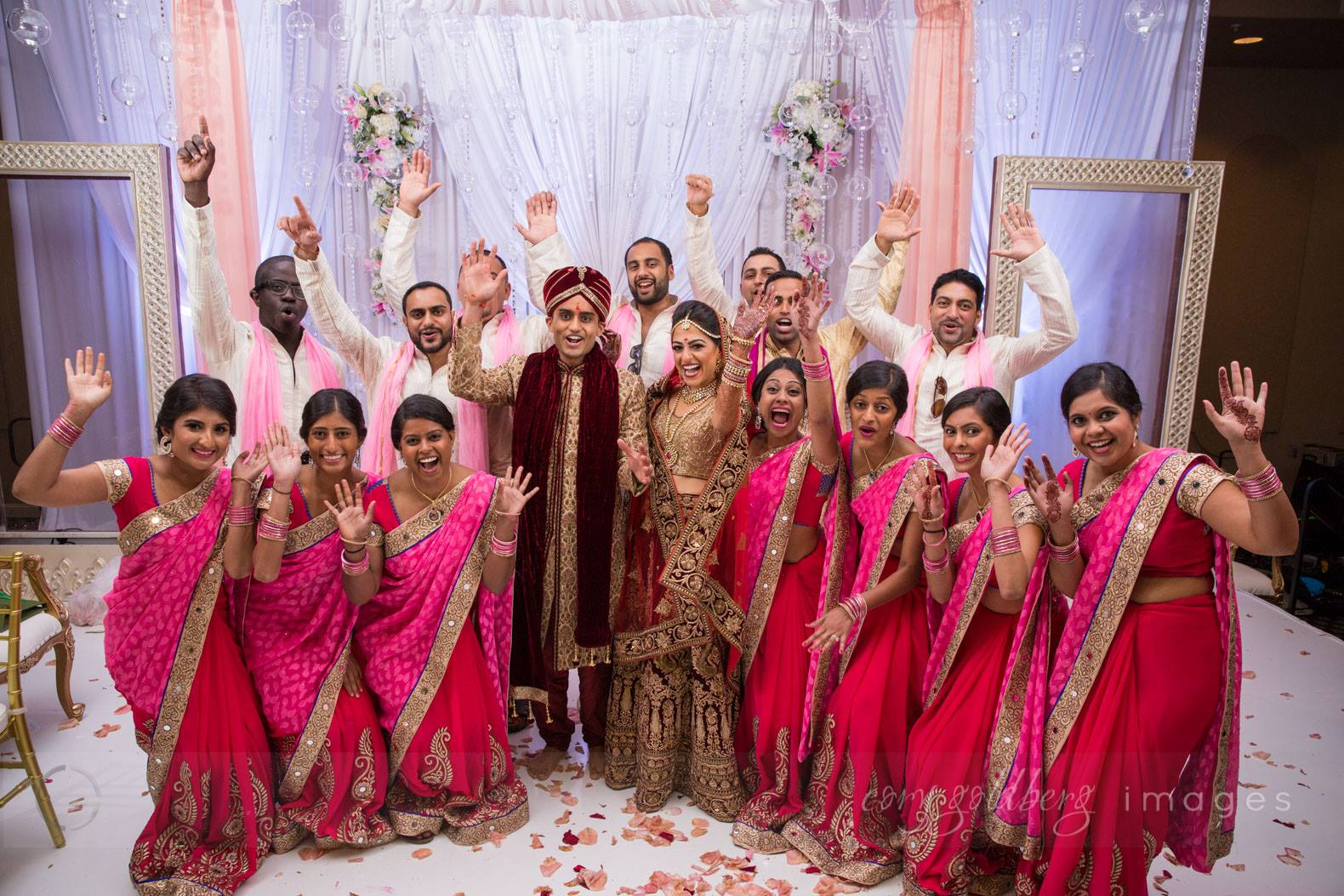 Manish & Kavitha Bridal Party